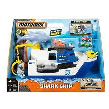 Matchbox Shark Ship Mission Marine Rescue Mega Rig Floats in Water Rolls on land