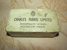 Vintage Collectable Charles Farris Limited Tin