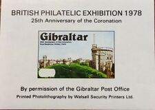1978 British philatelic exhibition mini sheet