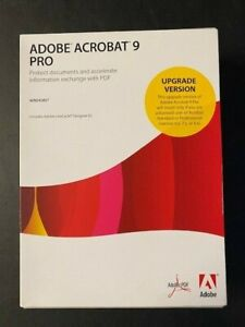 Adobe Acrobat 9 Pro for Windows with serial number