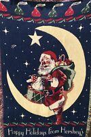 "Hershey Kisses Holidays Santa Christmas Jacquard Cotton Throw Blanket 40x68"""