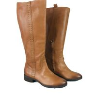 Sam Edelman Women's Prina2 Studded Riding Boots Leather Knee High Size 8 W - WC