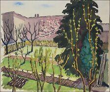 MATEO CRISTIANI (* 1890 FRANKFURT; ✝ 1962 MÜNCHEN) »GRÜNER HINTERHOF« 41 x 49 cm