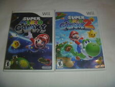 Super Mario Galaxy 1 (2007) & 2 (2010) Nintendo Wii Complete 2 Game Set Lot