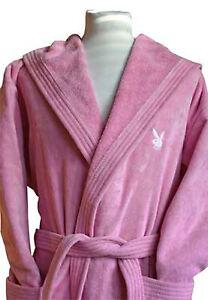 Playboy Bademantel pink/weiss oder weiss/pink oder weiss/schwarz NEU&OVP