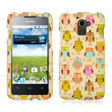 For MetroPCS Huawei Premia M931 HARD Protector Case Phone Cover Fancy Owl