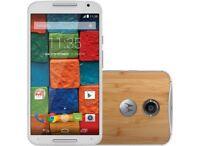 New Motorola Moto X XT1097 2nd Gen 16GB 4G White Dark Bamboo Unlocked Smartphone