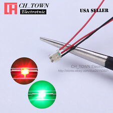 10PCS 0805 1615 Bi-Color Red Green Light Pre-Soldered Pre Wired SMD LED Diodes