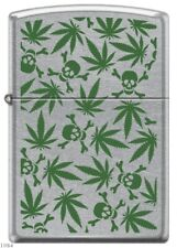 ZIPPO ★ WEED LEAVES & SKULLS