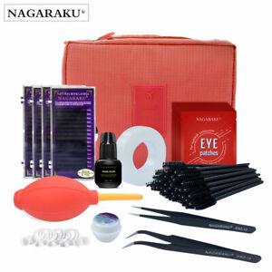 Professional Portable Eyelashes Extension Kit False Eyelash Makeup Set Container