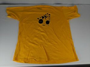 Vintage New Jersey Ramapo Rally BTCNJ 1995 Yellow Bicycle T-shirt Mens XL Bike