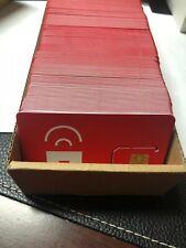 100 Red Pocket Mobile Gsma At&T & Unlocked Sim Card Standard