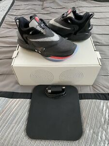 NIKE ADAPT BB 2.0  BLACK/ WHITE/ RED SIZE 11 Self Lacing Sneakers BLUETOOTH