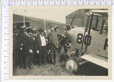 PHOTO ANCIENNE Le PRESIDENT MILLERAND AU BOURGET 1920-24   Moteur HISPANO-SUIZA