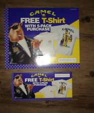 Set of two Camel Cigarettes Free T Shirt Store Display Posters