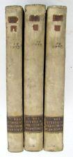 1776 BIBLIOTEKA RITUALIS by A. Zaccaria 3 BOOKS LOT VELLUM RELIGIOUS CEREMONIES