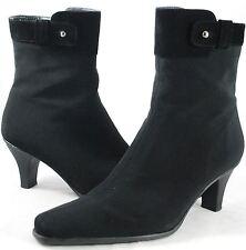 Stuart Weitzman - Black Gore-Tex Ankle Boots - Skinny Heel - Women's Size 6.5 M