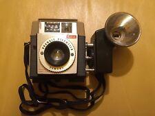 Antique Kodak Brownie Starmeter Retro Box Camera w/ Flash Attachment & Strap