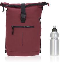 Sac à dos Bâche Time Bag messager Sac à dos Roll-up Vélo Sac à dos sport 24 rouge + f