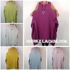 Linen Round Neck Sleeveless Dresses Midi