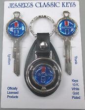 CAMARO Blue B-50-C Deluxe Classic White Gold Key Set keys 1968 1972 1976 1980