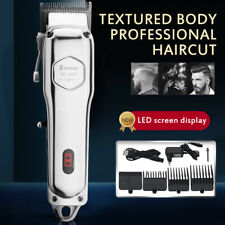 Rechargeable Men Electric Hair Clipper Trimmer Cordless Wireless Hair Cutting NE