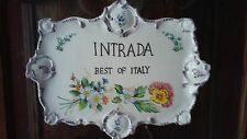 Intrada ceramic Wall hanging/tray Best of Italy