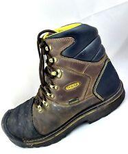 "KEEN Utility Milwaukee 6"" Steel Toe Waterproof Brown Work Boots Mens Size -11M"