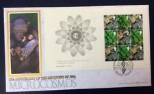 25.2.2003 Secret Of Life-booklet-DNA-Microcosmos-Democritus-Benham FDC Monkeys