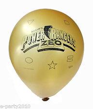 SABAN'S POWER RANGERS ZEO LATEX BALLOONS (12) ~ VTG Rare Birthday Party Supplies