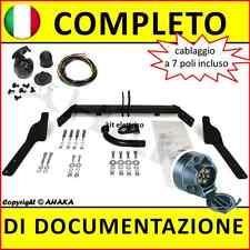 Gancio traino fisso Citroen Berlingo Peugeot Partner 97-08 kit elettrico 7-poli