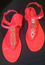 Coach Hot Pink Patent Flat Sandal Flip Flops Shoes Sz 6 1/2, 7 1/2, Or 8 1/2