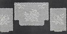 Vintage Crochet PATTERN to make Bird Design Filet Chair Set Doilies Mats Covers