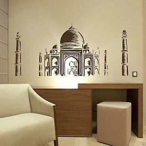 Taj Mahal - Landmark Wall Sticker / Interior Art Decal / Landmark Transfer NE95