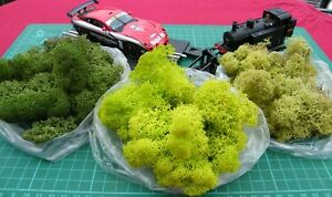NEW Premium trainmad Model Moss Scenery 3 bags HORNBY Rail War Slot Doll Tree