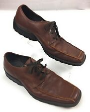 Kenneth Cole Reaction Brown Leather Bicycle Toe Lace Up Oxfords Shoes Men's 10M