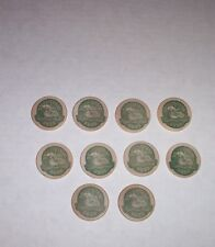 MOOSEHEAD CANADIAN LAGER BEER WOODEN TOKENS LOT OF 10 CANADA OLDEST BREWERY
