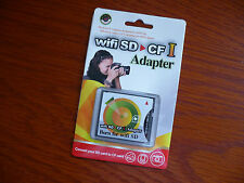 SD SDHC to CFII CF Type I Extreme Fast Adapter for Eye-Fi Canon 1D 5D 7D 50D 64