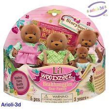 LI'L WOODZEEZ HEALTHNUGGLES BEARS FAMILY 4 FIGURINES FIT CALICO TOYS NEW OURS