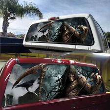 Rear Window Graphic Decal Death Cemetery Window Sticker for Pickup suv Jeep