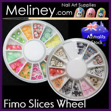 Fimo Fruit Wheel Character nail art Slices decoration Clay DIY craft supply