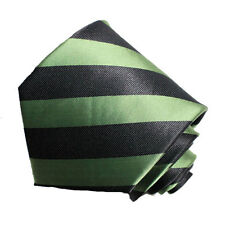 Men's green and black  striped  woven  tie