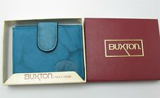 New Buxton Women's Billfold Wallet / Coin purse Blue genuine Leather SR39348