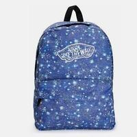 Vans Realm Classic Patch Satellite Blue Cosmic Print Backpack Bookbag New NWT