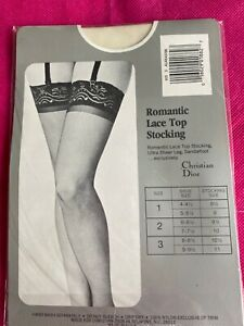 Romantic LACE TOP STOCKINGS*ivory*tall*new in package