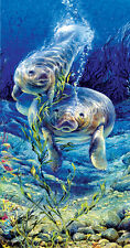 Jigsaw Puzzle Animal Fish Manatee Dive 500 pieces NEW Made in the USA