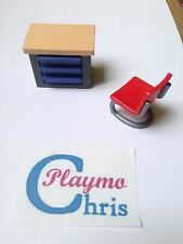 Playmobil Post,Police,School Office Furniture Chair & Desk,Table 4400,4289,4264