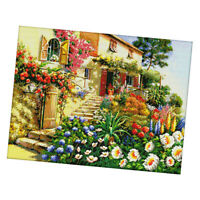 Garden Cottage Dimensions Counted Cross Stitch Kit Stamped 14CT Needlecraft