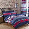 Polycotton Striped Design Reversible Duvet Set or Curtains in Red White & Blue