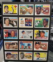 "BASEBALL GREATS 2 MATTED 15/CARD ""REPRINT"" COLLECTABLE 12"" x 16"" NMT LOOKS GREAT"